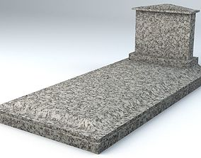 Small Marble Grave Lowpoly Game Ready 3D model