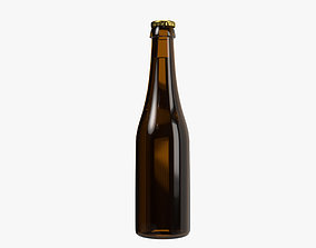 3D Beer bottle 04