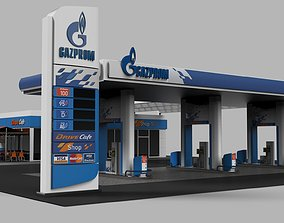 gas 3D Gas Station