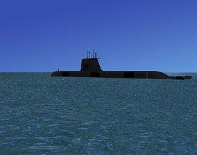 3D model Collins Class HMAS Farncomb 74