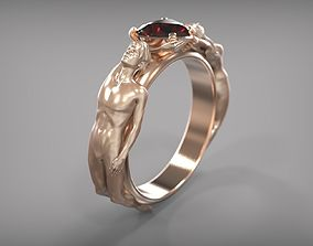 3D print model Ring with figures