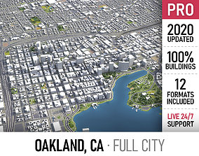 Oakland - city and surroundings 3D asset