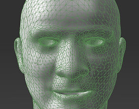 3D printable model Solid male head 2