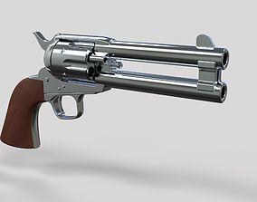 Revolver of agent Whiskey from movie Kingsman 3D model 2