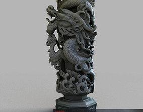 Dragon column 3D model