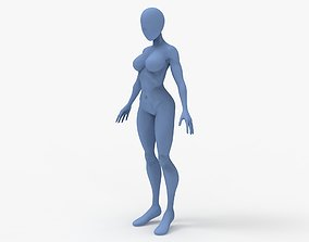 Cartoon Woman Base Mesh 3D print model