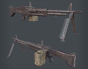 M60 Machine Gun 3D model realtime