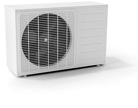 3D White Air Conditioner With Fan