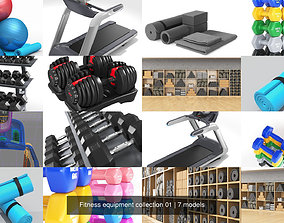 3D model Fitness equipment collection 01