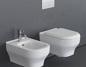 Olympia Ceramica Synthesis Wall-Hung WC 3D model
