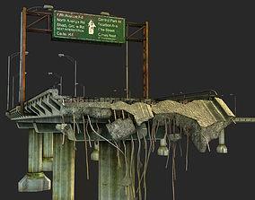 3D asset Broken Bridge