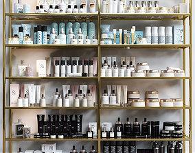 3D A set of premium cosmetics for a beauty salon