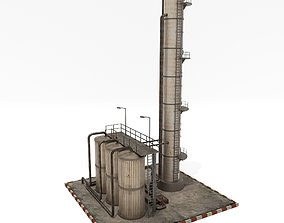 Refinery Unit 3D asset VR / AR ready