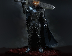 3D asset Guts with berserker armor