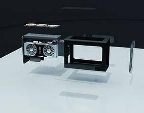 Mini ITX PC Water Cooled 3D