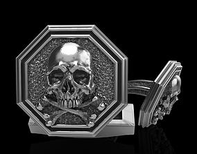 skull cufflinks 3d 3D printable model
