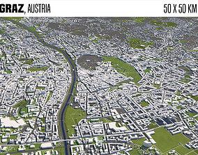 Graz Austria 50x50km 3D model