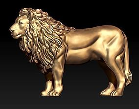 stl lion statue 3D printable model