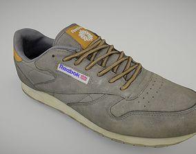 Worn Reebok sneaker shoe low poly 3D model