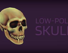 3D model Vampire skull