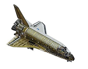 SPACE SHUTTLE Atlantis Interior and 3D model