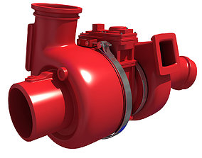 3D model Red Turbo Engine