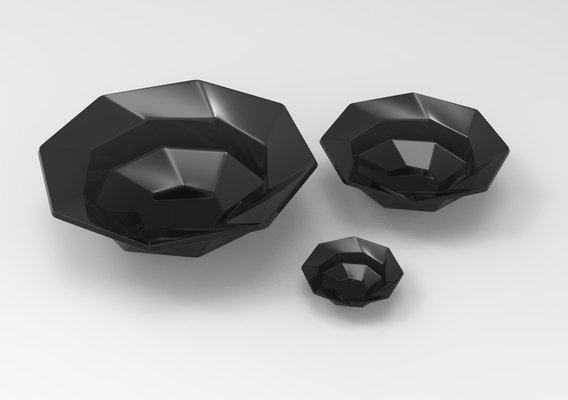 Glass Bowl Model GB2 Black