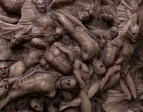 3D model Mutations of merged People HOrror Animated
