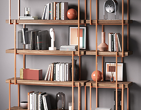 Bookcase set RAIN by Bonaldo furniture 3D