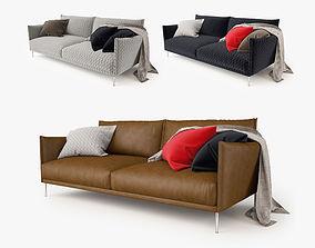 3D model Moroso Gentry 2 Seater Sofa