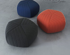 3D model couch Muuto FIVE POUF