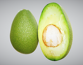Avocado 3D model game-ready