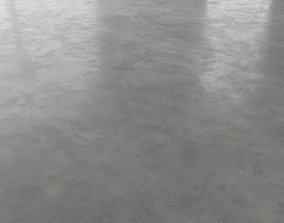 Polished concrete floor 3D model