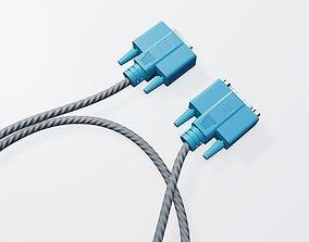 3D asset vga connector desktop computer cable