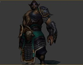 viking 3D asset animated