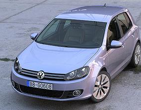 3D model Volkswagen Golf 5 door 2010