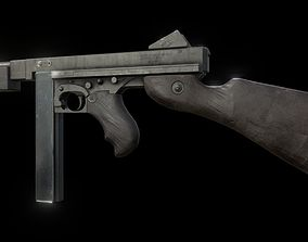 M1A1 Thompson Submachinegun 3D asset