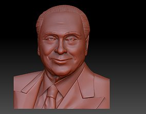 art 3D print model Silvio Berlusconi
