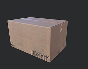3D asset Cardboard Box 02
