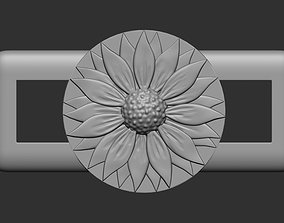 Sunflower lace buckle 3D printable model