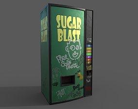 3D model Soda vending machine pbr low poly