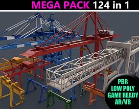 3D model PBR Gantry Cranes - Mega Pack