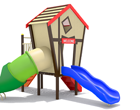 3D model low-poly Playground Playhouse