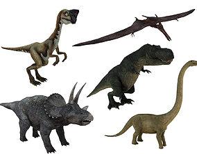 tyrannosaurus 3D model game-ready dinosaur
