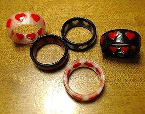 3D print model Dual-Color Heart Ring