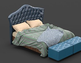 Tufted Luxury Bed 3D