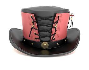 3D model Vested Steampunk Top Hat