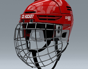 3D Ice Helmet with Metal Facemask