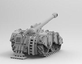WoWBuildings Sci Fi Artillery Tank stl 3D printable model
