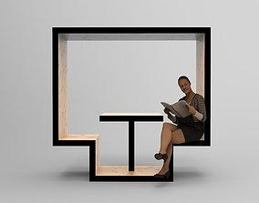 3D model Furniture Unit 1